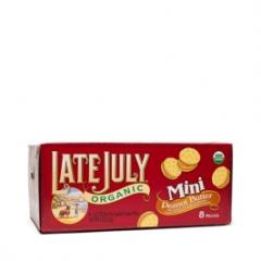 有机迷你花生酱夹心饼干Late July  8袋32克,总计255克