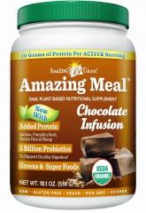 有机神奇营养餐-巧克力味 Amazing Meal 514克,富含蛋白质,益生菌,维生素及抗氧化果蔬