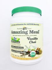 有机神奇营养膳食-香草风味Amazing Meal 375克,富含蛋白粉、益生菌、维生素及抗氧化果蔬